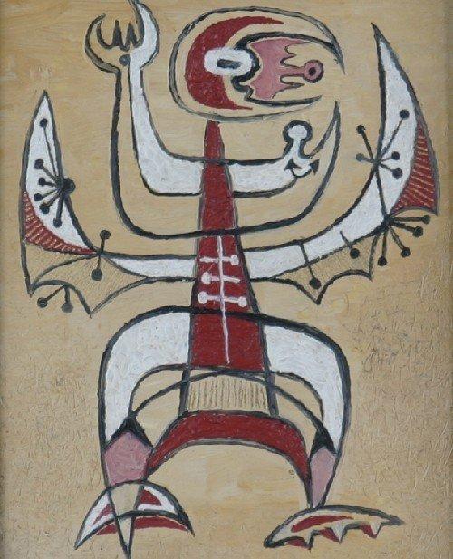 14B: W. Brincka, Early 20th century, Abstract Figure, t