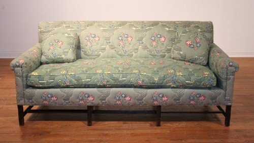 510B: An Upholstered Sofa, Length 72 inches.