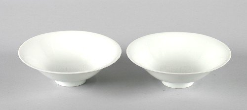 606B: A Pair of Chinese White Glazed Porcelain Bowls, D