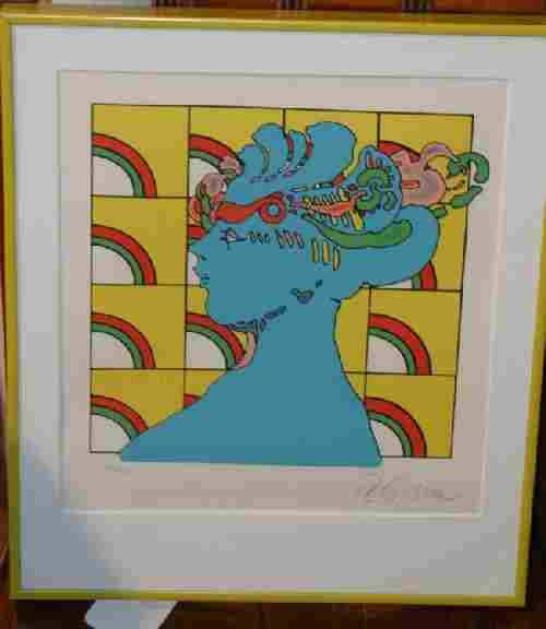 Peter Max, (German/American, b. 1937), Being with