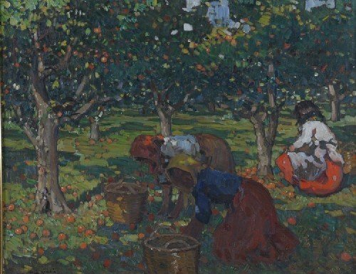 1004B: Pia Rubia, early 20th century, Picking Apples