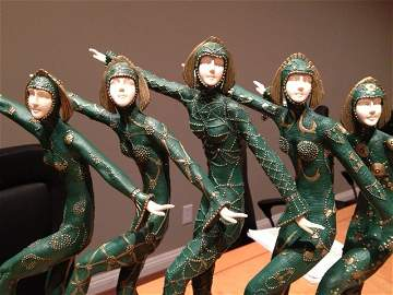 """""""CHORUS LINE"""" BRONZE-IVORY-MARBLE (REAL IVORY) CHIPARUS"""