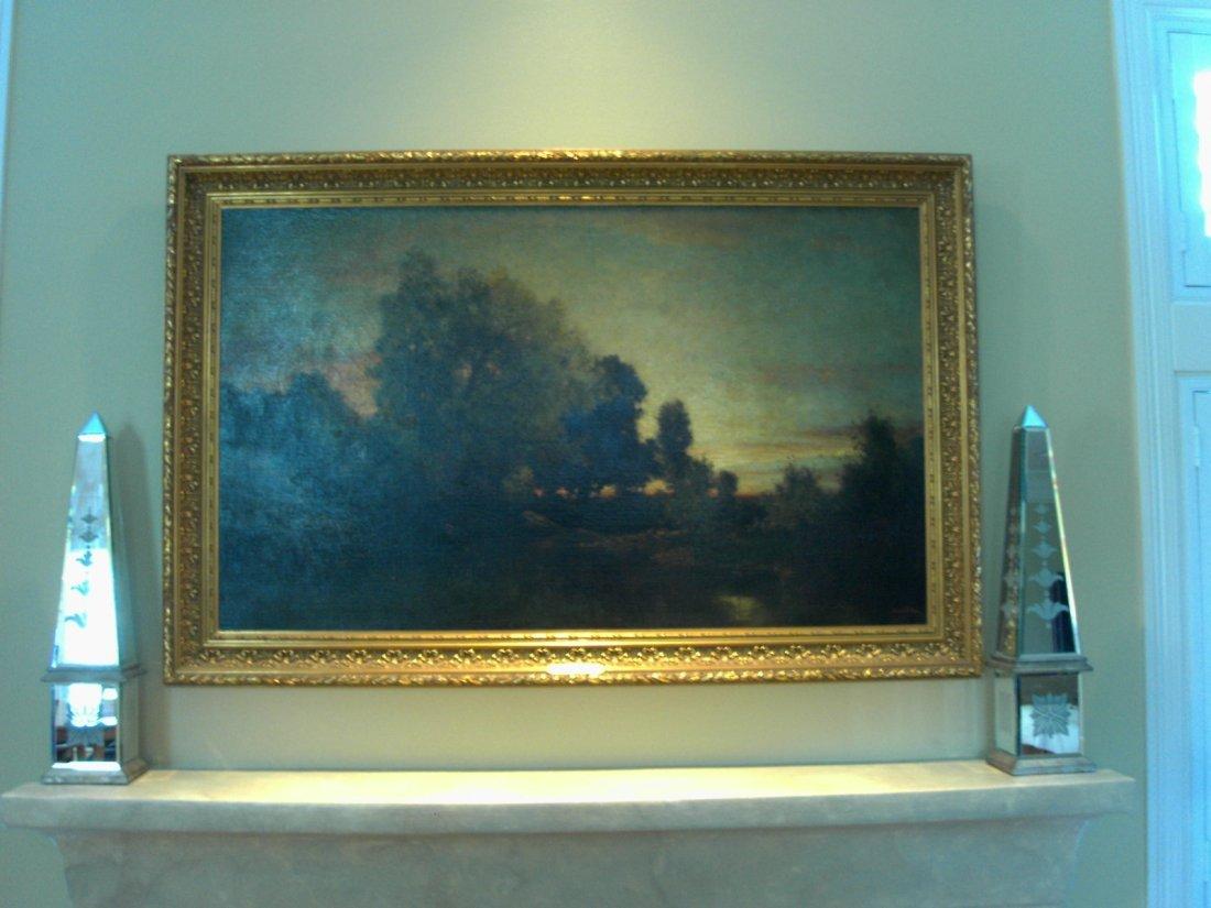 """ROBERT MINOR HUD RIVER ARTIST """"EVENING"""" 1870"""