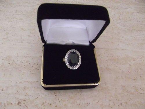 SAPPHIRE-DIAMOND-14KT YELLOW GOLD RING APP $17,000