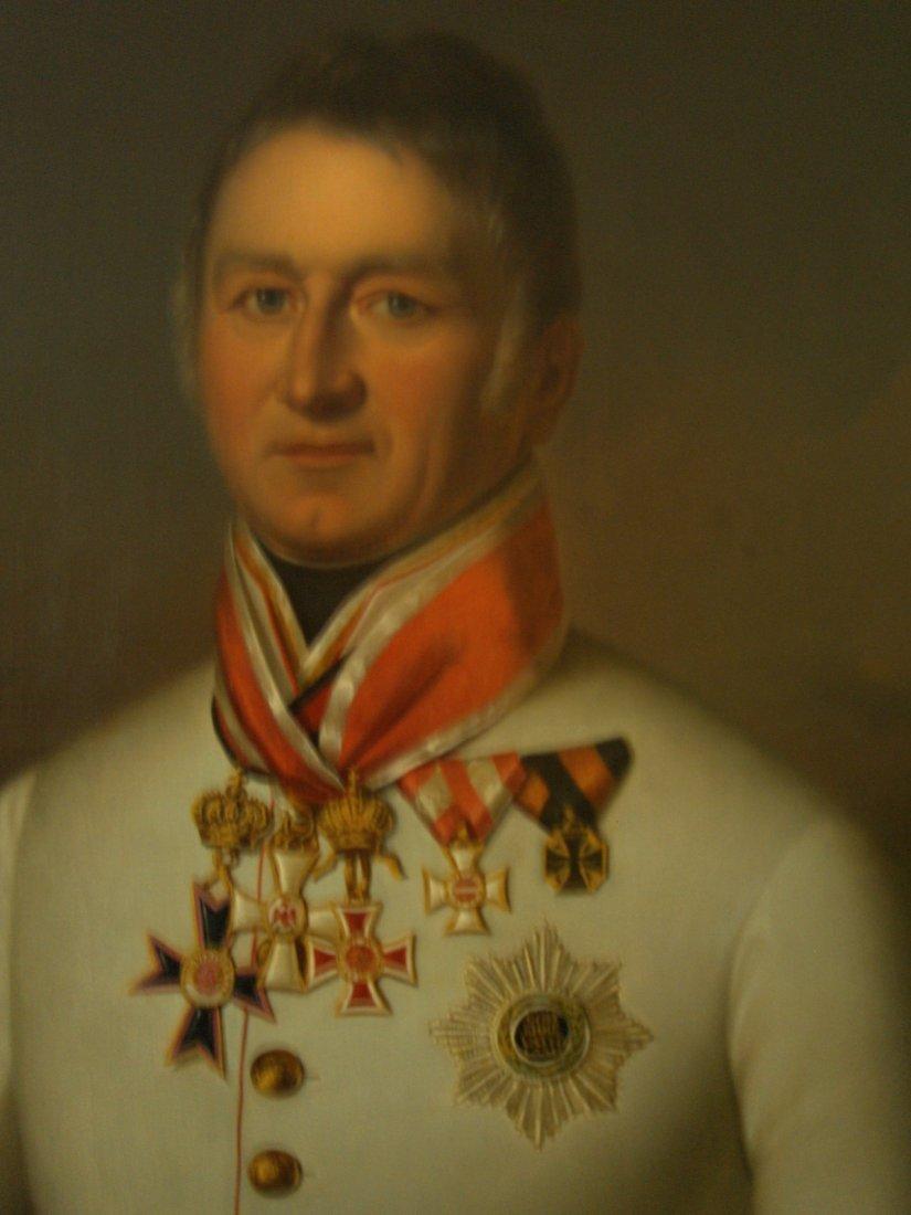 1820 OIL PAINTING OF BARON VON MARKUS CSOLLICH AUSTRIA