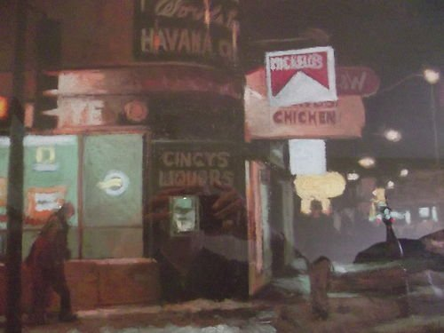"ARTIST DOUG DAWSON ""CLANCYS CORNER"" AWARD PASTEL"