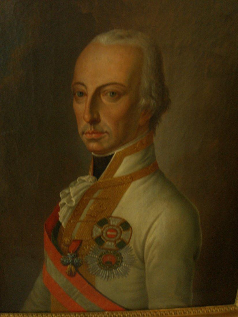 """1820 OIL PAINTING """"KAIZER FRANZ VON I OSTERREICH  MQ"""