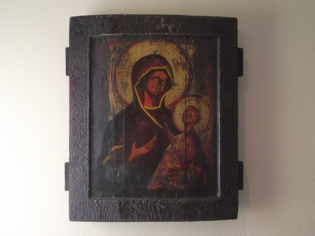 "RUSSIAN ICON X LARGE ""MADONNA AND CHILD"""