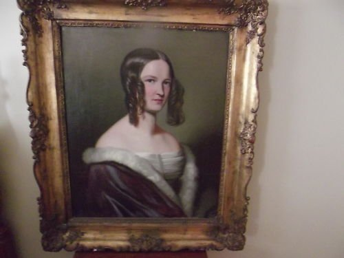 1841 OIL PAINTING ON CANVAS SIGNED ANTON SOLEME