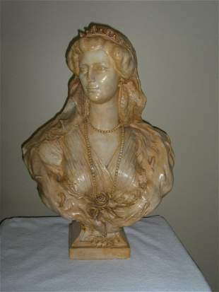 ANTIQUE BUST OF KIZARIN ZITA OF AUSTRIA (1892 1989)
