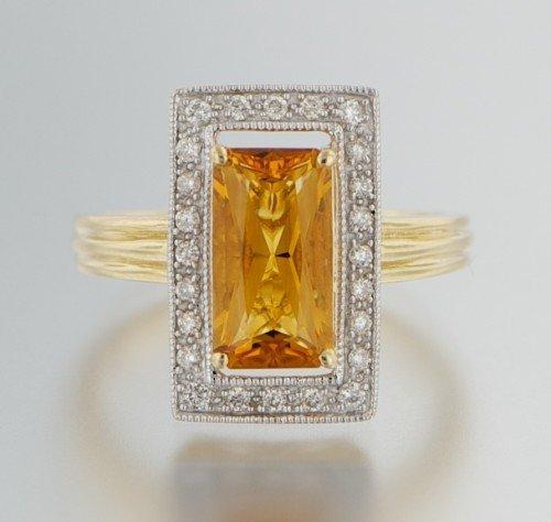 14KT YELLOW GOLD -DIAMOND RING