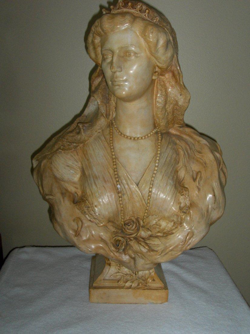 ANTIQUE BUST OF KIZARIN ZITA OF AUSTRIA (1892-1989) SIG