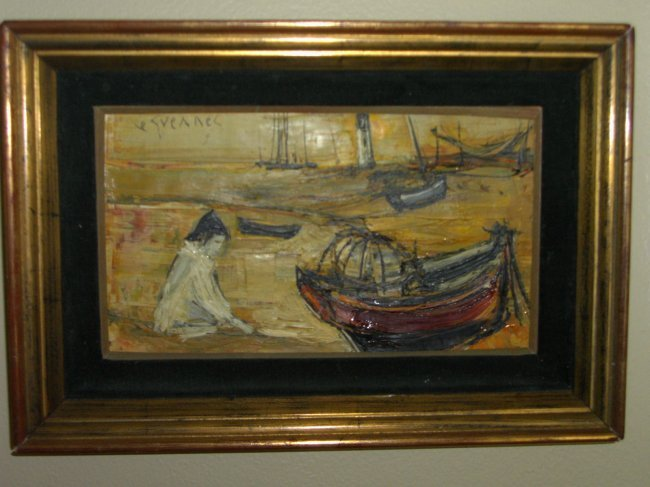 ORIGINAL OIL ON CANVAS BY FRENCH ARTIST JEAN LA GUENNEC