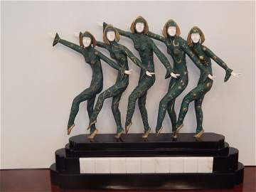 """BRONZE-MARBLE-ONYX AND """"TRUE IVORY"""" TITLED: CHORUS LINE"""