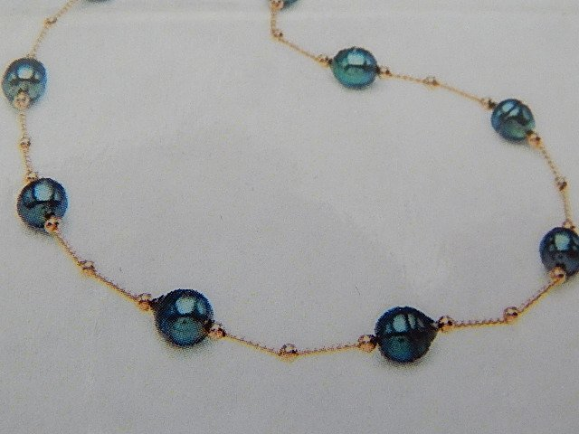 TAHITIAN BLACK PEARL 14KT GOLD NECKLACE