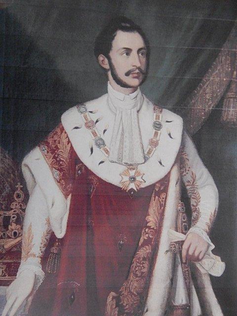 OIL PAINTING OF EMPEROR OF MAXIMILLIAN OF MEXICO - XXL