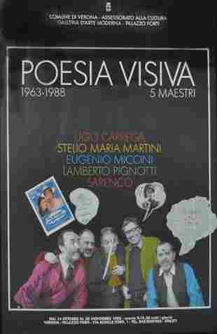 Poster della mostra 5 maestri, Verona, Palazzo Forti