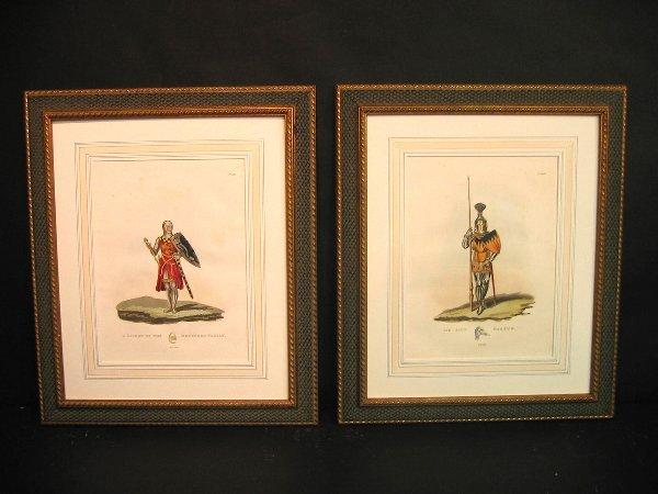1: Decorative antique prints of military.