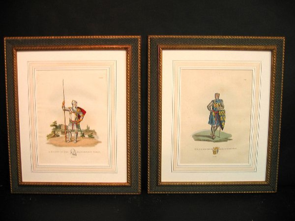 3: Decorative antique prints of military.
