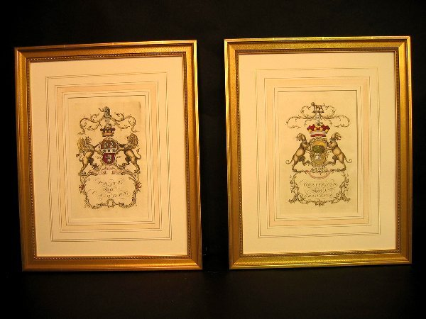 6: Decorative antique prints of crests