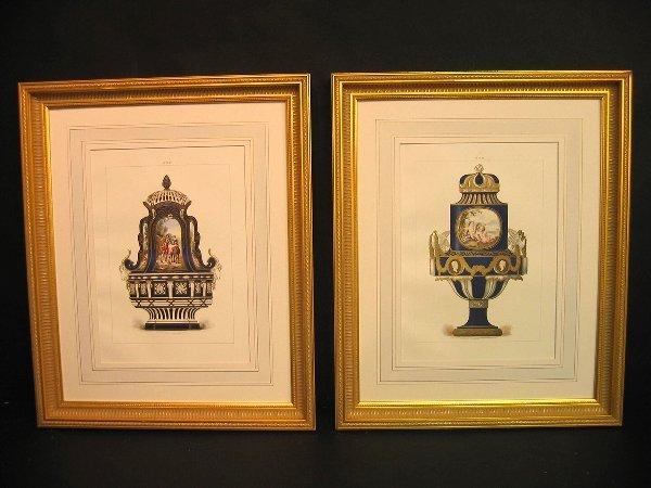 7: Decorative antique prints of sevres