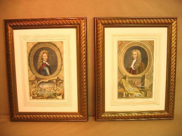 20:  Decorative antique prints of portraits