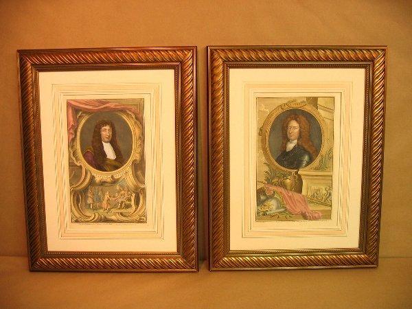 21: Decorative antique prints of portraits