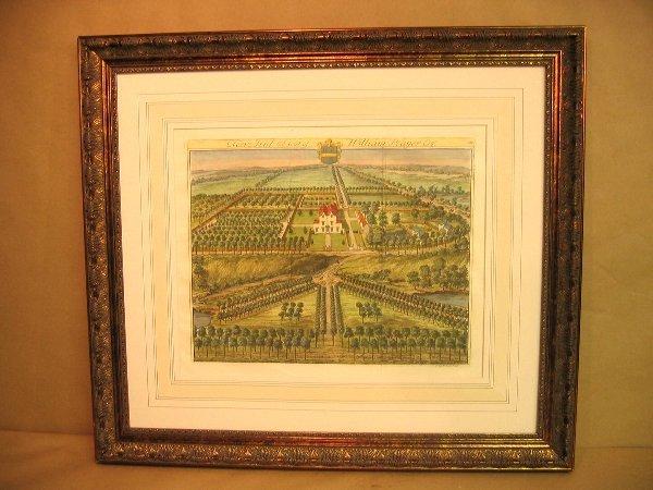 23: Decorative antique print of gardens