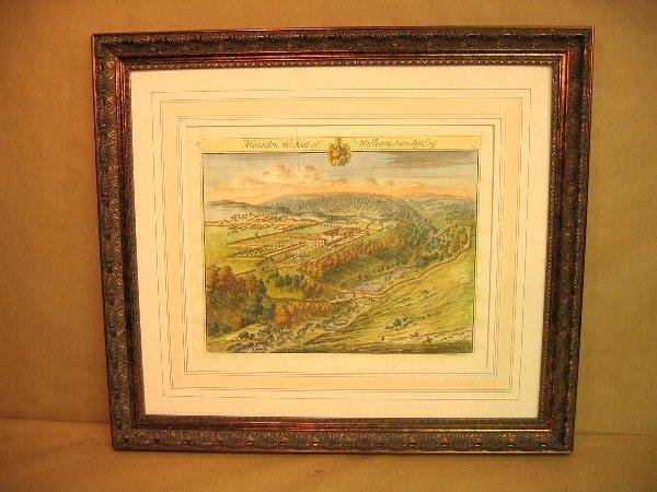 24: Decorative antique print of estates