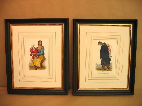 72:  Decorative antique prints of indians