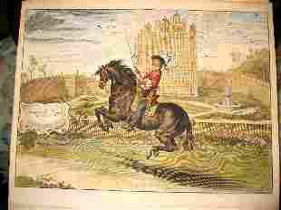 Baron Newcastle equestrian engravings