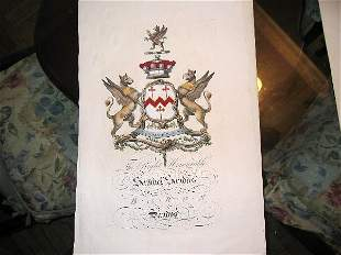 hand colored engravings of hearaldy pri
