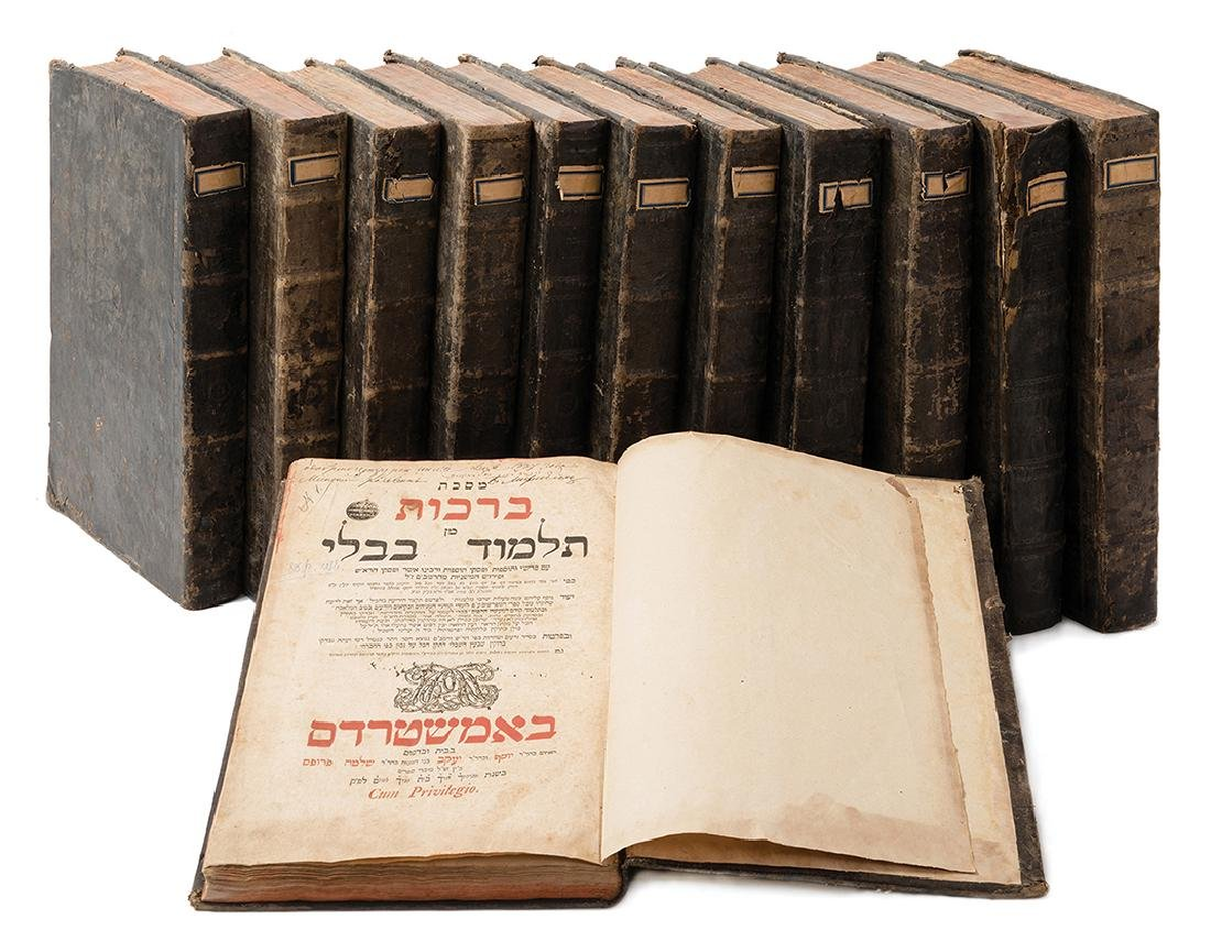 Babylonian Talmud - Amsterdam, 1752-1765 - Complete Set