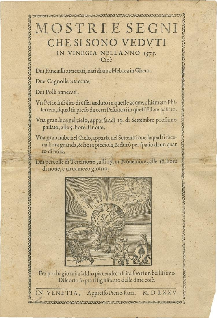 Broadside and Two Printed Compositions - the Venetian