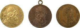 Three Medals - King David / Aaron the Priest / Moses -