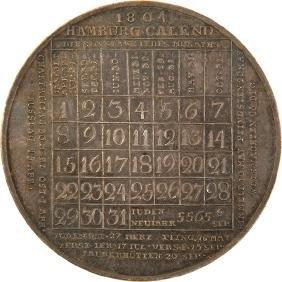 Silver Medal - Calendar - Hamburg, 1804