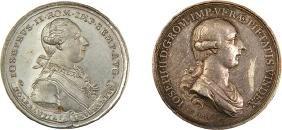 """Two Medals - Emperor Joseph II's """"Edict of Tolerance"""","""