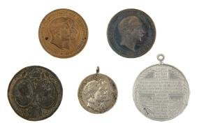 Five Medals - Souvenir from the Visit of Emperor
