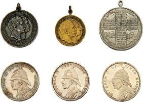 Six Medals - Souvenir from the Visit of Emperor Wilhelm