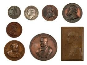 Seven Medals and Plaques - Numismatists and Numismatic