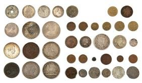 Varied Collection of Coins from Around the World