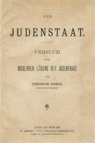 "Theodor Herzl - ""The Jewish State"" - First Ed..."