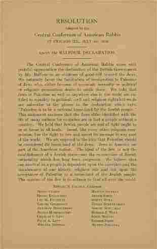 Response of Reform Rabbis to the Balfour Decl...