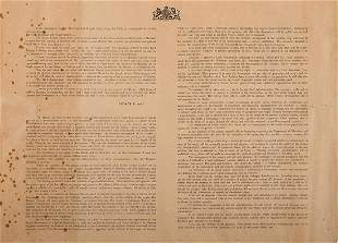 Two Broadsides - Appointment of Herbert Samue...