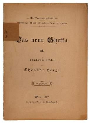 The New Ghetto Theodor Herzl Vienna 1897