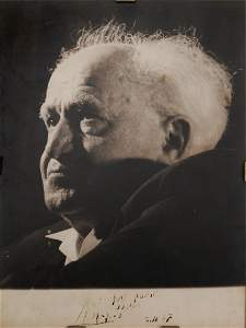 David Ben-Gurion - Signed Photograph
