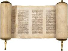 Small Sefer Torah, with Brass Handles - Ashke...