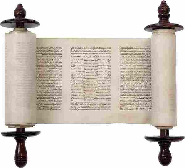Miniature Sefer Torah - Poland, Early 19th Ce...