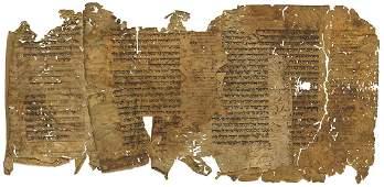 Manuscript Fragments on Vellum - Torah with T...