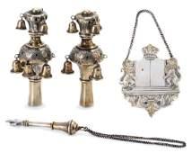 Miniature Torah Finials, Torah Shield and Tor...